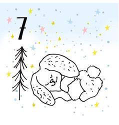 the advent calendar for christmas vector image