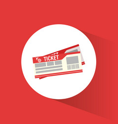 ticket airline travel concept vector image