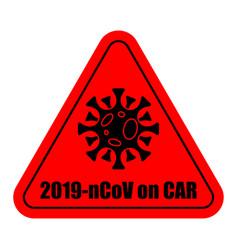 2019-ncov on car sticker quarantine coronavirus vector