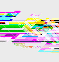 Abstract geometric translucent colors vector