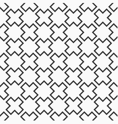 abstract seamless pattern crosses or plus signs vector image