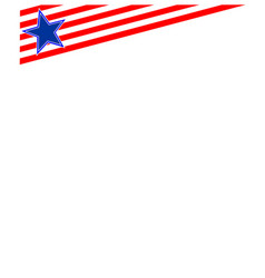 American patriotic corner with a star vector