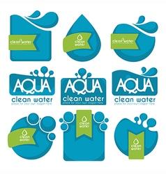 Aqua stickers vector