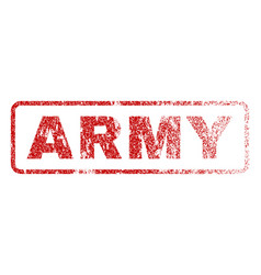 Army rubber stamp vector