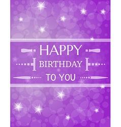 birthday card with shinning stars vector image
