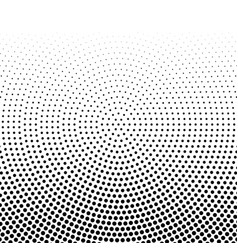 black halftone horizontal gradient of dots in vector image