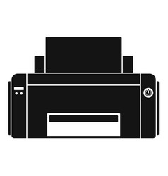 black ink printer icon simple style vector image
