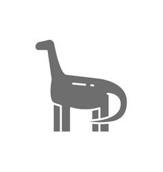 Brachiosaurus brontosaurus dinosaur prehistoric vector