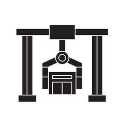 building industrial crane black concept vector image