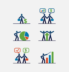 business account or cooperation icons vector image