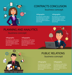 business backgrounds templates with people in vector image