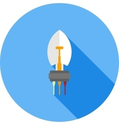 Car Light Bulb vector image