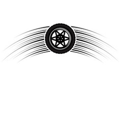 car wheel rotation symbol vector image
