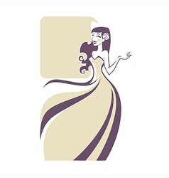 Cartoon bride vector