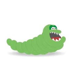 Cartoon cute monster on white background vector image