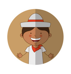 Colombian little boy character vector