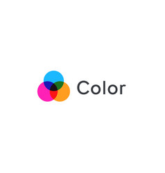color spots light abstract logo template vector image