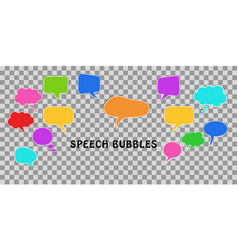 Communication concept set of comic colorful vector