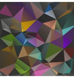 Dark background polygon vector image