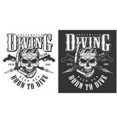 diving apparel design vector image