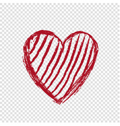 Doodle heart with lines happy valentines day vector