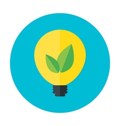 Eco idea flat circle icon vector image