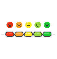 Emotional scale mood indicator customer vector