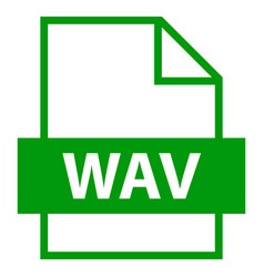 File name extension wav type vector