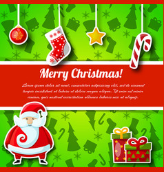 flat christmas postcard vector image