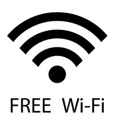 free wifi sign free wi-fi zone vector image