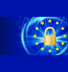 gdpr background padlock general data vector image