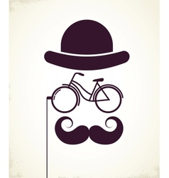 Gentlemen with Bicycle eyeglass vector