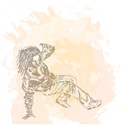 girl street dancer vector image