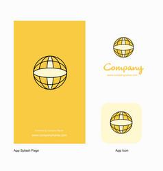 globe company logo app icon and splash page vector image