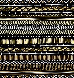 Gold boho seamless pattern retro tribal background vector