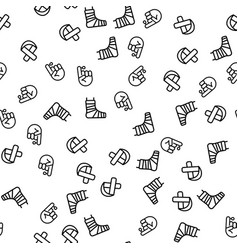 Human injury and treatment seamless pattern vector