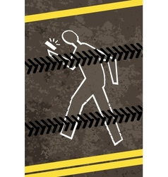 Injured crossing a road with telephone vector image