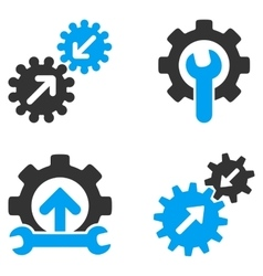 Integration Tools Flat Bicolor Icons vector image