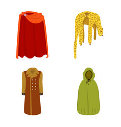 Isolated object cloak and clothes icon vector
