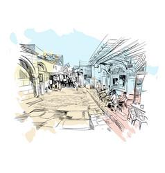 Israel streets of jerusalem vector