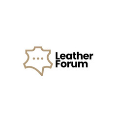 leather talk forum chat community logo icon vector image