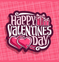 logo for st valentines day vector image