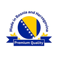 Made in Bosnia and Herzegovina logo vector
