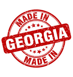 made in georgia red grunge round stamp vector image