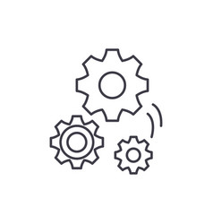 mechanical engineering line icon concept vector image