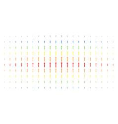 medieval sword spectral halftone array vector image