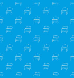 metal barbecue pattern seamless blue vector image