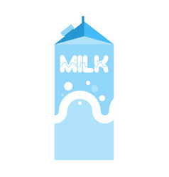 Milk package isolated cardboard box for drink vector