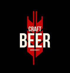 modern craft beer drink logo vector image