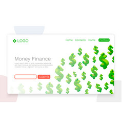 money finance flying dollar symbols vector image